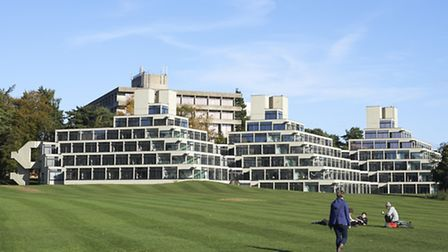 The National Trust's tour of the UEA will include the famous ziggurats.