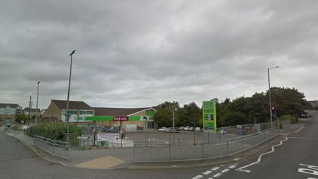 The car was reportedly driven at the 18-year-old outside the Asda in Main Road, Harwich.