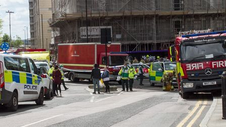 Emergency services arrive at New Providence wharf including 100 firefighters