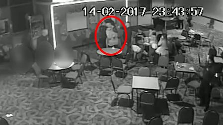 CCTV captures the moment Paul Reynolds is restrained at Pontins in Pakefield, near Lowestoft