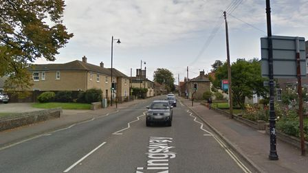 A road has been closed in Mildenhall after a person was hit by a car