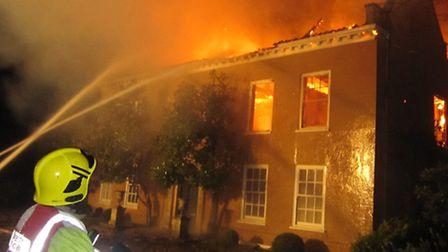Oulton Hall fire. Picture: Norfolk Fire Service/Brian Walshe