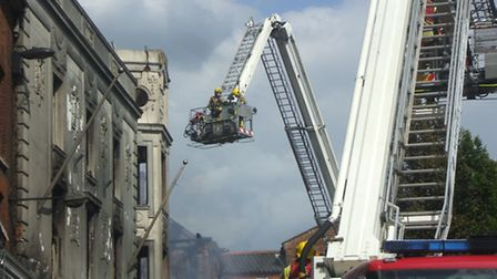 The fire at Aldiss in Fakenham in 2014. Photo: iwitness24