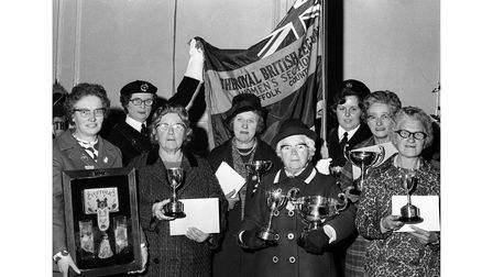 The Royal British Legion women's section Suffolk area meeting in Bury St Edmunds in November 1973