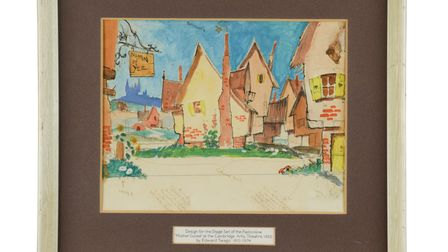Three historic set designs for Cambridge Arts Theatre by East Anglian artist Edward Seago will go under the hammer on May 27.