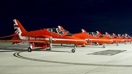 The Red Arrows at Norwich Airport. Photo: Adam Duffield/Flickr