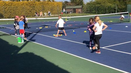 The tennis club now has around 70 children attending coaching lessons throughout the week