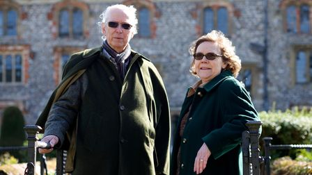 Mannington Hall Gardening Feature with Lord and Lady Walpole. Pictured is Robin and Laurel Walpole.