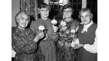 Kirton WI Jubilee party in October 1981