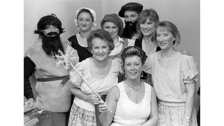 Langham WI's panto cast in January 1990