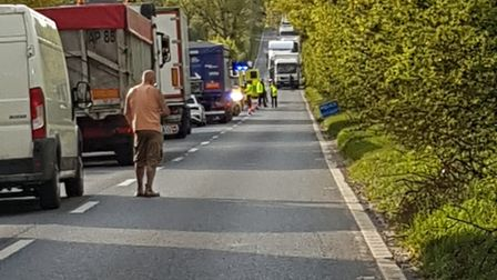 An accident took place between Swaffham and Narborough on Wednesday, May 12