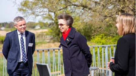 Princess Annevisited Suffolk Wildlife Trust's Carlton Marshes Nature Reserve to celebrate the 60th anniversary