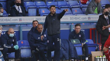 Manager Adem Atay, pictured during Ipswich Town's FA Youth Cup semi-final clash with Liverpool