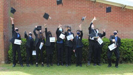 Students at Northgate High School celebrate their success