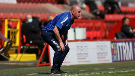Ipswich Town manager Paul Cook watches from the touchline during the Sky Bet League One match at The