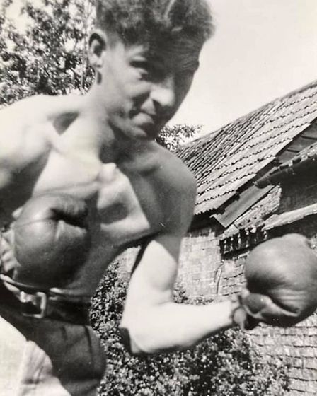 Amateur boxerRoy Bedingfield pictured in Ely in themid-to-late 1930s.