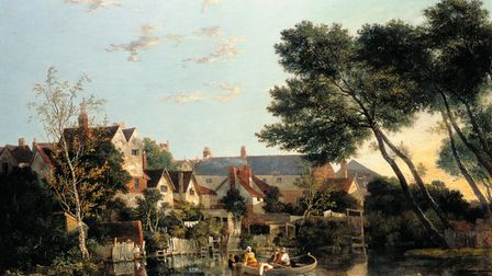 Norwich River: Afternoon, c.1812-1819, by John Crome, oil on canvas