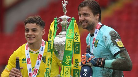 Norwich City'sTim Krul, pictured with Max Aarons, was a great support to Anna
