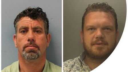 Police are searching for wanted men John Paul Mongan, left, and James Mongan, right