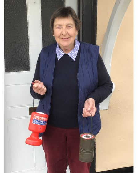 Pam Turnbull has spent more than 60 years as a Poppy Appeal collector in Gosbeck