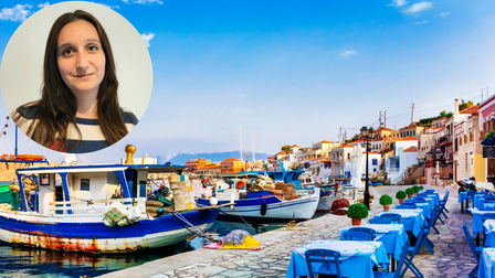 Travel agent Rebecca England (inset) says Greece will be among the top destination for Brits this summer