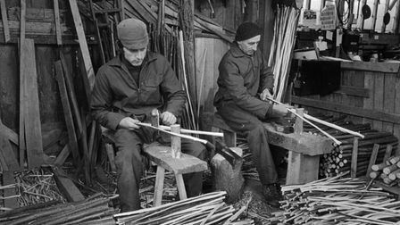 Making brotches for the thatching trade in 1980