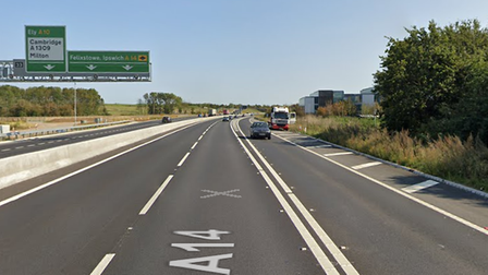 A woman in her 30s died after she was hit by a lorry on the A14 at Milton.