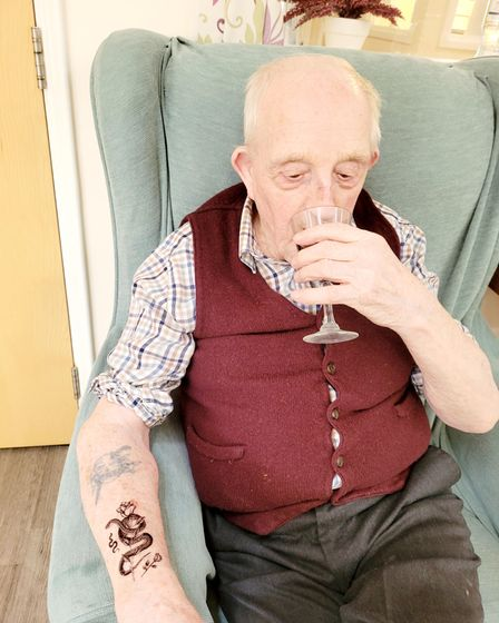Residents and staff at Soham Lodge Care Centrehad lots of fun at their booze 'n' tattoos event