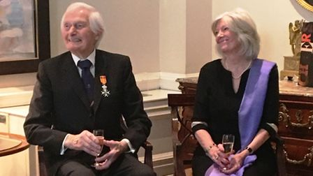 Major Kenneth Mayhew and his wife, Trish. Picture: Embassy of the Kingdom of the Netherlands