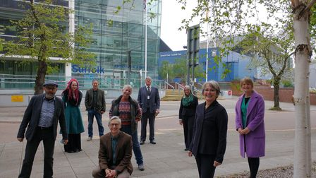 Members of the Green, Liberal Democrat and Independent group, the new official opposition group at Suffolk County Council