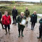 © Jake Newman / Rekord Media. Lord Clinton proudly holds the NNR declaration certificate at todays