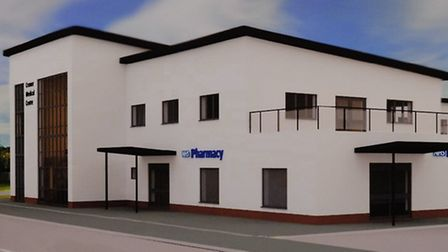 An impression of the proposed new Cromer medical practice planned for part of the Cabbell Park site