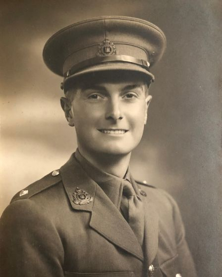 Major Ken Mayhewlanded with Ist Battalion The Suffolk Regiment on D-Day