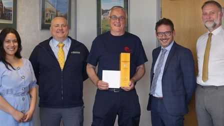 Craftsman Jim Satchwell has racked up 25 years' service with Persimmon Homes