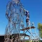 Pakefield Man by Tobias Ford will tower over the Sculpture in the Valley near Saxmundham