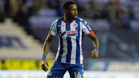 Wigan Athletic's Omar Bogle during the Sky Bet Championship match at the DW Stadium, Wigan. PRESS AS