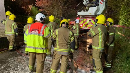 The blaze broke out in the detached property on The Street,FraminghamPigot, near Norwich, at about 8.15pm.