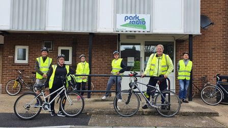 The team from Diss-based Park Radio stayed active during the pandemic with a sponsored bike ride
