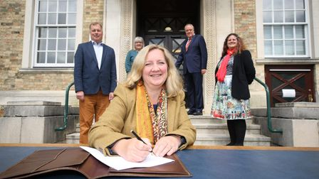 rainbow alliance signs on the dotted line