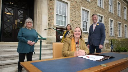 Shire Hall celebrations as rainbow alliance formed