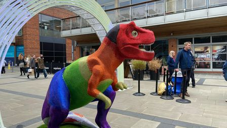 The first GoGoDiscover T-Rex was unveiled at Chantry Place on Saturday morning ahead of the summer trail