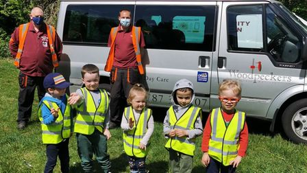 Woodpeckers nursery in Sudbury relaunched their litter picking scheme with the community wardens last week