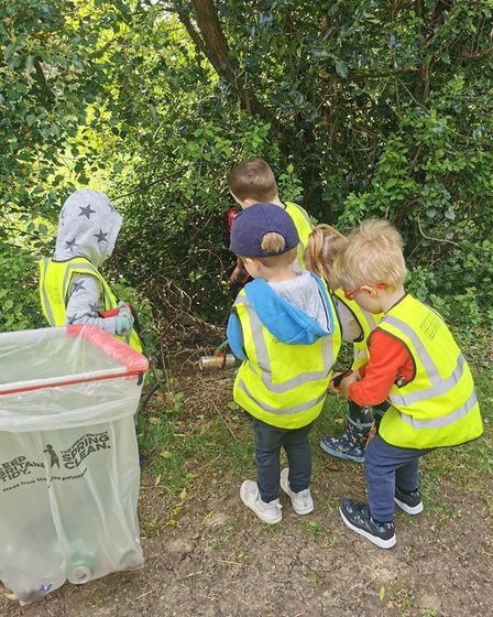 The children get so much joy out of the litter picks and learning about the area