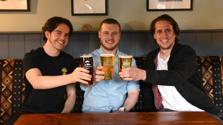 Ollie Templeton, Ben Kelly and Jack Harris. Oakes Barn pub in Bury are preparing to re-open Picture