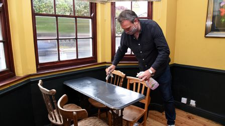 Owner Dan. The Grayhound pub in Ipswich is preparing to re-open on Monday Picture: CHARLOTTE BOND