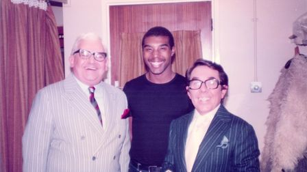 Lord Wesley Pestano, pictured with The Two Ronnies`