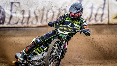 Danny King pictured at the Ipswich Speedway press day.