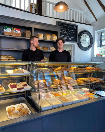 Owner, Chris Smith and his right hand man Eddy in the fresh looking bakery
