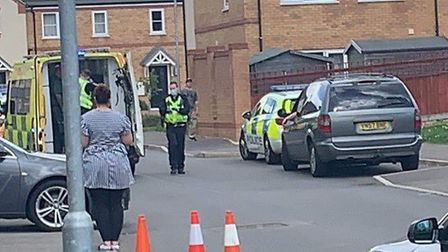 Police at Lancaster Way, Chatteris