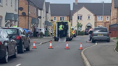 Police presence in Lancaster Way, Chatteris